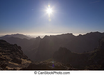 Gran Canaria, view from the highest areas, Las Cumbres -...