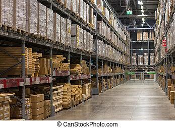 gran escala, almacén, en, rusia