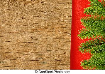gran, närbild, Trä,  över, träd, Struktur, tyg, filial, röd