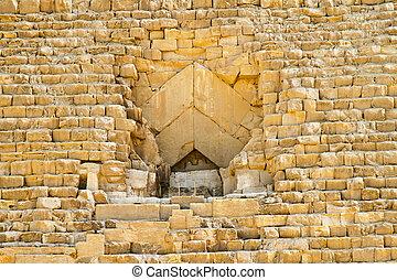 gran pirámide, entrada