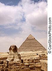 gran pirámide, esfinge