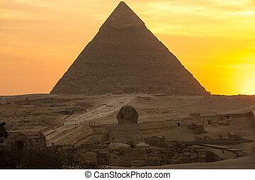 gran pirámide, ocaso