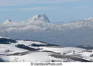 Gran Sasso, Italy - View of Gran Sasso mountain, Appenines...