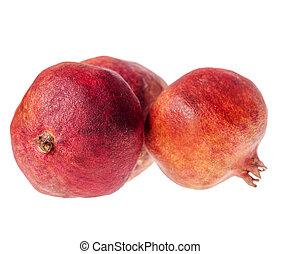 granaatappel, drie, rijp