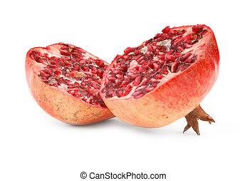 granaatappel, fruit, witte , rijp