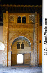 Granada Carbon Corral facade of Spain also called Old...