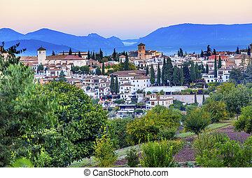 Granada Cityscape Churches Andalusia Spain from Oilve ...