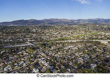 Granada Hills San Fernando Valley Los Angeles Aerial