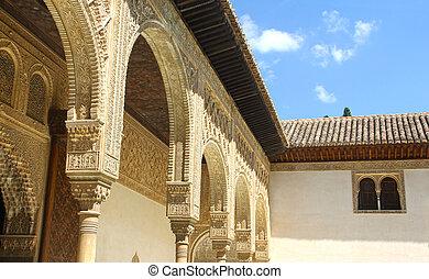 granada, pałac, alhambra, hiszpania