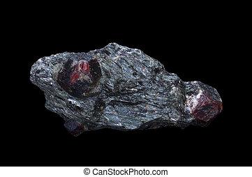 granada, pedra, mineral