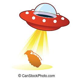 granada, ufo, botão