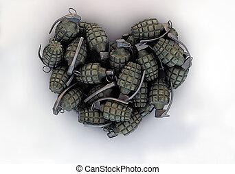 granades, 形, 心