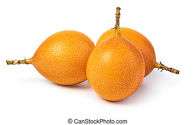 granadilla on white background