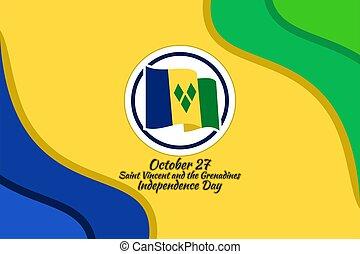 granadinas, independencia, 27, día, vincent, octubre, santo