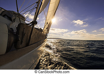 granangular, velero, vista