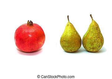 granatapfel, birnen