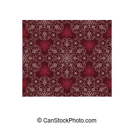 granate, patrón floral