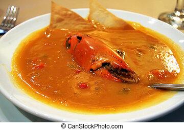 granchio, minestra
