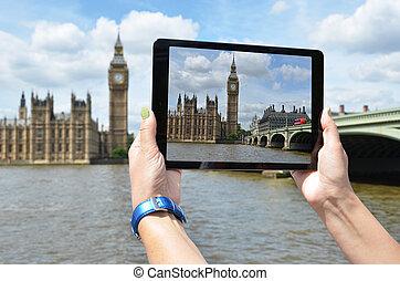 grand écran, ben, tablette