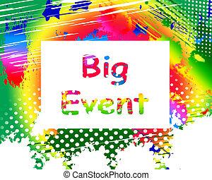 grand événement, sur, écran, spectacles, célébration, occasion, festival, et, perf