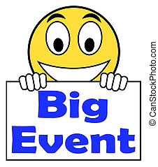 grand événement, sur, signe, spectacles, célébration, occasion, festival, et, perfor