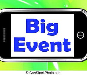grand événement, téléphone, projection, célébration, occasion, festival, et, performance