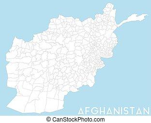 grand, afghanistan, carte