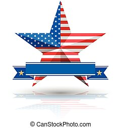 grand, américain, étoile, drapeau