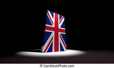 grand, angleterre, effondrement, drapeau, britannique, ...
