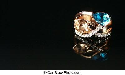 grand, anneau, pierre