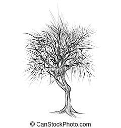 Automne nu feuilles arbre vecteurs eps rechercher des - Dessin arbre nu ...