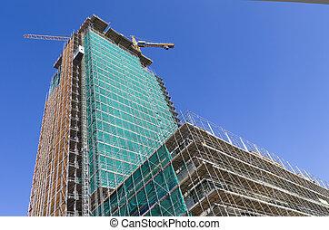 grand bâtiment, construction, sous