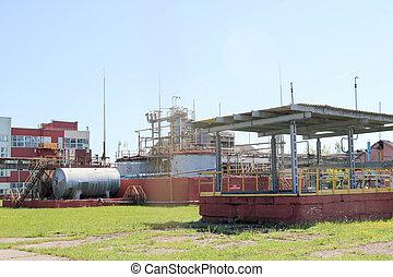grand, bâtiments, industriel, installation, capacitive, canaux transmission, technologique, chimique, béton, chaleur, pétrochimique, pompes, raffinerie, compresseurs, canalisations, exchangers
