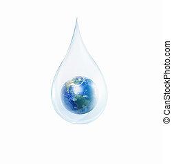 grand, baisse eau