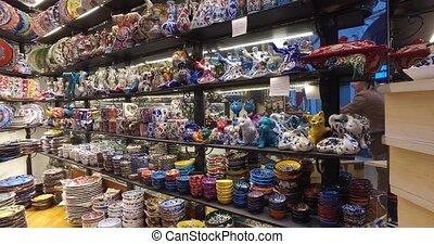 Grand Bazaar in Istanbul - ISTANBUL, TURKEY - 4 APRIL 2016:...