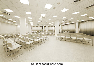 grand, blanc, auditorium