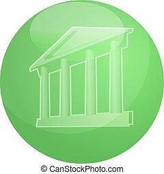 Grand building with pillars - Illustration ofa grand...