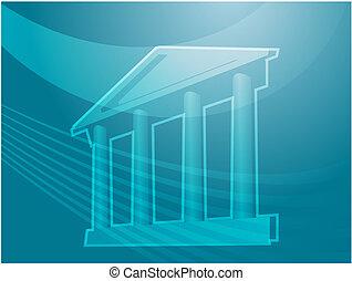 Grand building with pillars illustration - Illustration ofa...