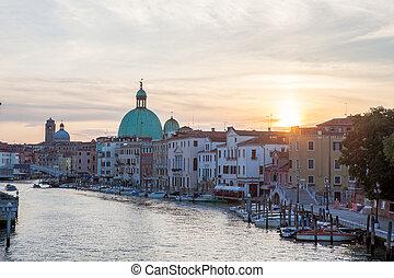 Grand Canal and Basilica Santa Maria della Salute, Venice, ...