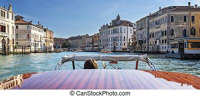 grand canal, bateau