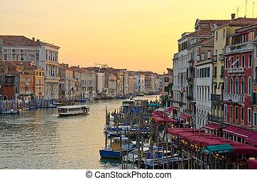 Grand Canal, Venice - Grand Canal at dusk, Venice, Italy
