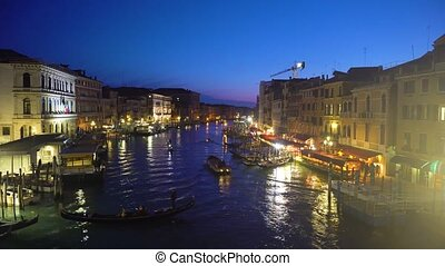 Grand canal, Venice, Italy - Grand Canal embankmentat...