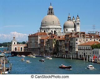 Grand Canal Venice - Santa Maria de la Salute on the Grand ...