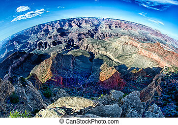 grand canyon arizona on a sunny day in psring