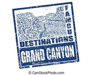 grand canyon, briefmarke