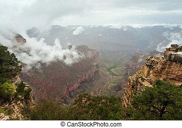 Grand Canyon Cloud Inversion Landscape