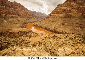 Grand Canyon Colorado river red big walls near las vegas