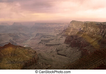 grand canyon, coucher soleil