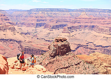 Grand Canyon hiking people