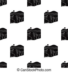 Grand Canyon icon in black style isolated on white background. USA country pattern stock vector illustration.